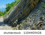 about 80 footprints of... | Shutterstock . vector #1104405428