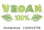 vegan. vector calligraphy...