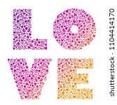 love. vector calligraphy... | Shutterstock .eps vector #1104414170