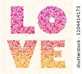 love. vector calligraphy... | Shutterstock .eps vector #1104414173