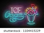 vintage glow poster with ice... | Shutterstock .eps vector #1104415229