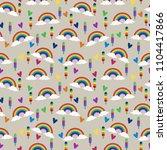 rainbow popsicles seamless... | Shutterstock .eps vector #1104417866