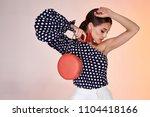 portrait of beautiful sexy... | Shutterstock . vector #1104418166