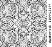 monochrome seamless tile... | Shutterstock . vector #1104418199