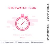 stopwatch icon isolated on...