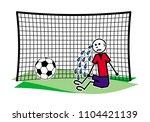 a soccer  football  goalkeeper... | Shutterstock .eps vector #1104421139