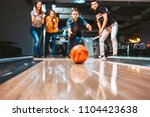 friends having fun while... | Shutterstock . vector #1104423638