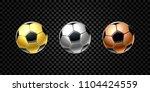 vector set of 3d realistic... | Shutterstock .eps vector #1104424559
