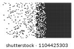 dissolved filled square dotted... | Shutterstock .eps vector #1104425303