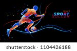 vector 3d football player with... | Shutterstock .eps vector #1104426188