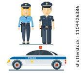 vector police officer character.... | Shutterstock .eps vector #1104426386