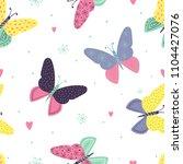 abstract seamless butterflies...   Shutterstock .eps vector #1104427076