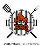 barbecue party label isolated... | Shutterstock .eps vector #1104434048