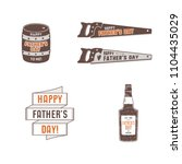 fathers day badges  labels... | Shutterstock . vector #1104435029