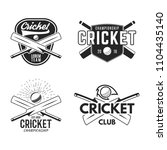 cricket logo set  sports... | Shutterstock . vector #1104435140
