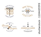 wine shop badges templates in... | Shutterstock . vector #1104435593
