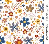 amazing floral vector seamless... | Shutterstock .eps vector #1104436100