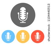 simple microphone icon. set of...