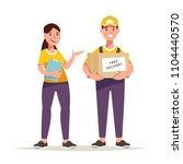 vector illustration courier... | Shutterstock .eps vector #1104440570
