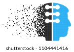 fractured dual head interface...   Shutterstock .eps vector #1104441416