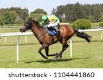 Small photo of Racehorse Baron Von Chill ridden by Harry Skelton gallops to the line before winning at Market Rasen Races : Market Rasen Racecourse, Lincolnshire, UK : 20 May 2018 : Pic Mick Atkins