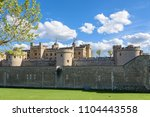 architecture of tower of london ... | Shutterstock . vector #1104443558