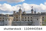 architecture of tower of london ... | Shutterstock . vector #1104443564