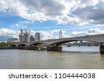 vief of waterloo bridge over... | Shutterstock . vector #1104444038