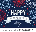 happy independence day  4th... | Shutterstock .eps vector #1104444710