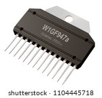 integrated circuit or micro... | Shutterstock . vector #1104445718