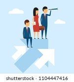 business concept. in a simple... | Shutterstock .eps vector #1104447416