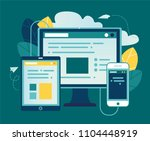 vector illustration  concept of ... | Shutterstock .eps vector #1104448919