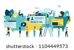 vector illustration  flat style ... | Shutterstock .eps vector #1104449573