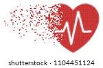 dispersed cardiology dot vector ... | Shutterstock .eps vector #1104451124