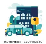 vector modern flat illustration ... | Shutterstock .eps vector #1104453860