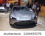 Small photo of Switzerland; Geneva; March 8, 2018; Aston Marting Vantage; The 88th International Motor Show in Geneva from 8th to 18th of March, 2018.