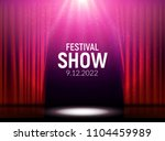 red curtains theater scene... | Shutterstock .eps vector #1104459989