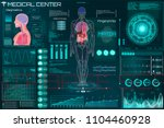 medical infographic hud. health ...