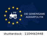 common agricultural policy on... | Shutterstock .eps vector #1104463448