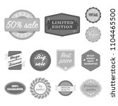 different label monochrome... | Shutterstock .eps vector #1104465500