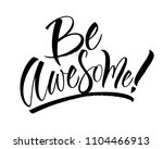 be awesome lettering.... | Shutterstock .eps vector #1104466913