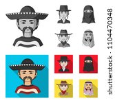 a mexican  a jew  a woman from... | Shutterstock .eps vector #1104470348