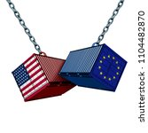 european american trade war and ... | Shutterstock . vector #1104482870