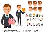 handsome banker in business... | Shutterstock .eps vector #1104484250