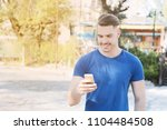 portrait of young latin man... | Shutterstock . vector #1104484508