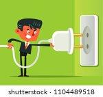 office worker man businessman... | Shutterstock .eps vector #1104489518