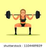 sporty fitness bodybuilder... | Shutterstock .eps vector #1104489839