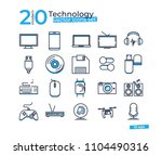 technology object icons set for ... | Shutterstock .eps vector #1104490316