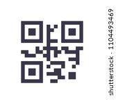 qr code. icon on white...   Shutterstock .eps vector #1104493469
