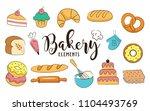 bakery elements vector... | Shutterstock .eps vector #1104493769